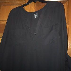 Torrid Georgette 2-Pocket Pullover Blouse, size 2